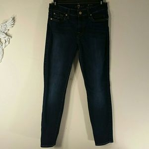 7 For All Mankind ankle skinny jeans sz 27